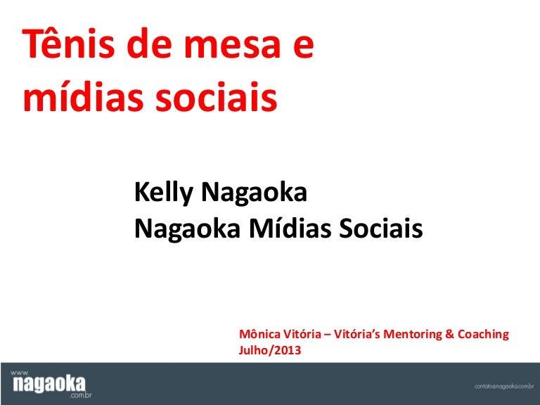 Apresentação de Kelly Nagaoka sobre tênis de mesa e mídias