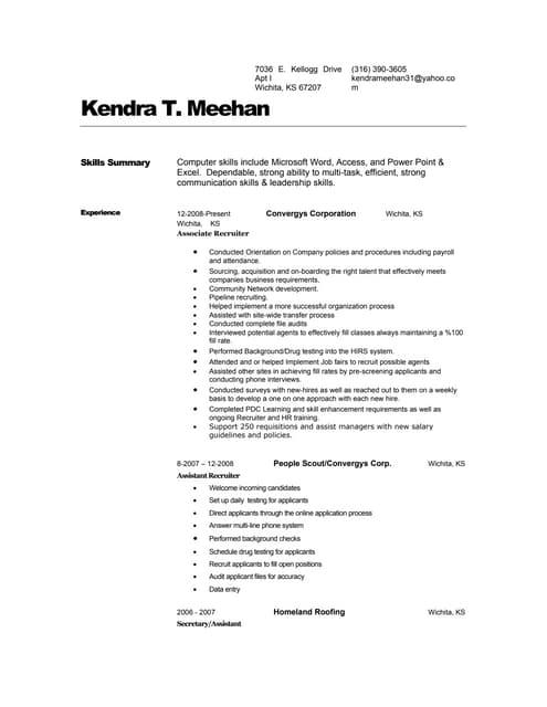 Aviation Ordnanceman Resume