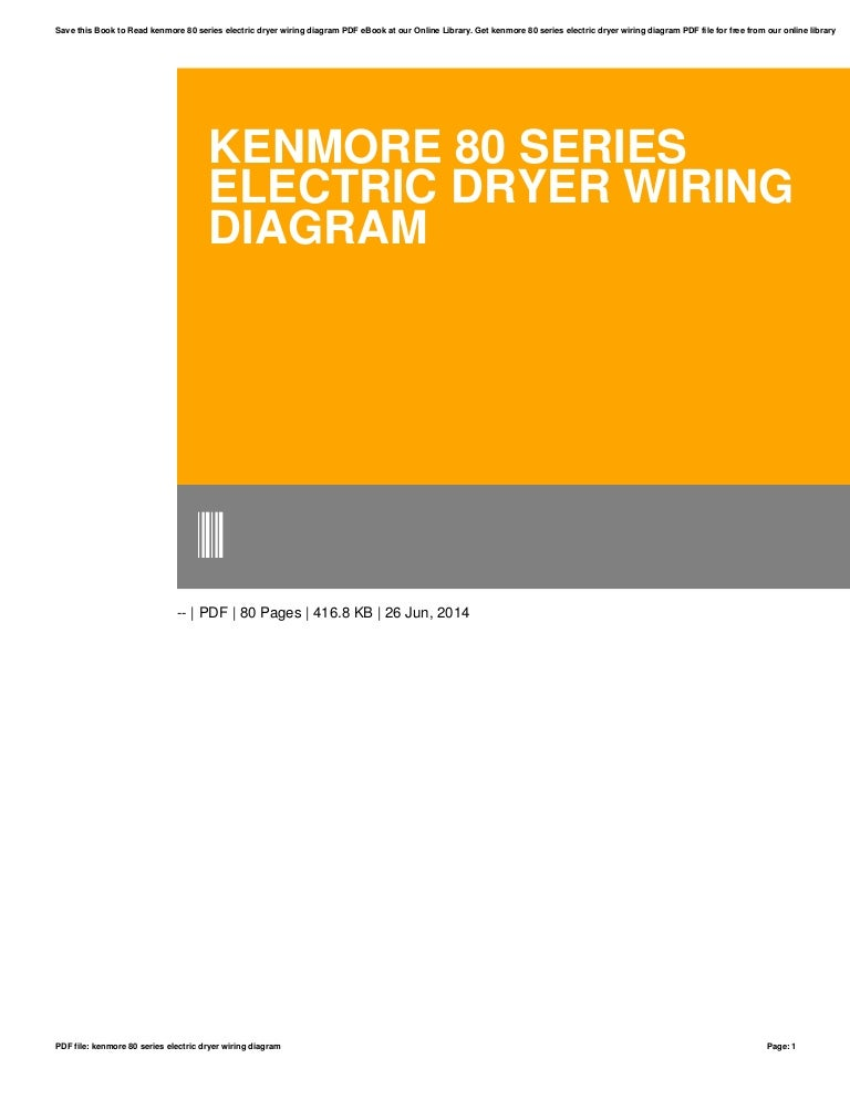 Electric Dryer Kenmore Dryer Wiring Diagram