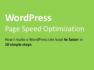 Wordpress Page Load Speed - Kenneth sytian