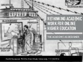 The Academic as Designer: Rethinking Academic Labour for Online Higher Education