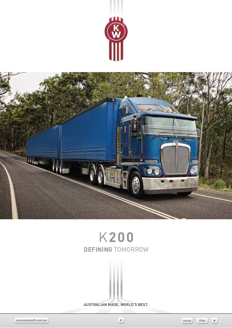 Kenworth K200 Vehicle Specifications