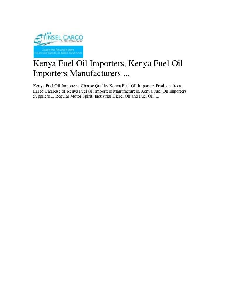 Kenya fuel oil importers, kenya fuel oil importers