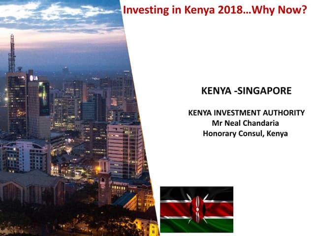 Africa Singapore Business Forum 2018   Kenya