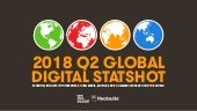 2018 Q2 Global Digital Statshot