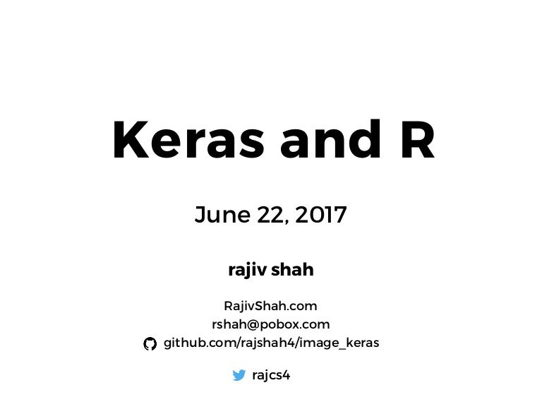 Keras & R