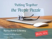 Putting Together the People Puzzle – Content Strategy Summit 2014