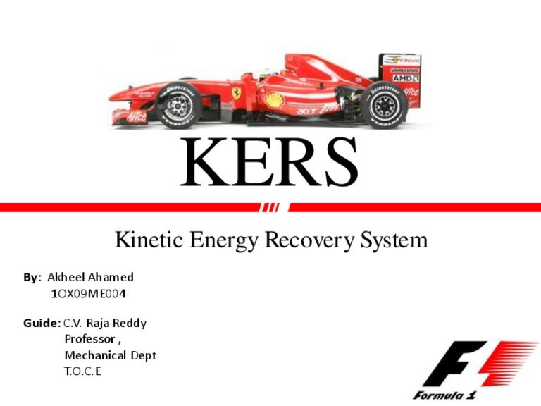Kinetic energy recovery system kers sciox Gallery