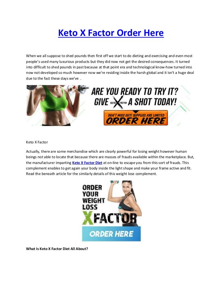 what is the x factor diet