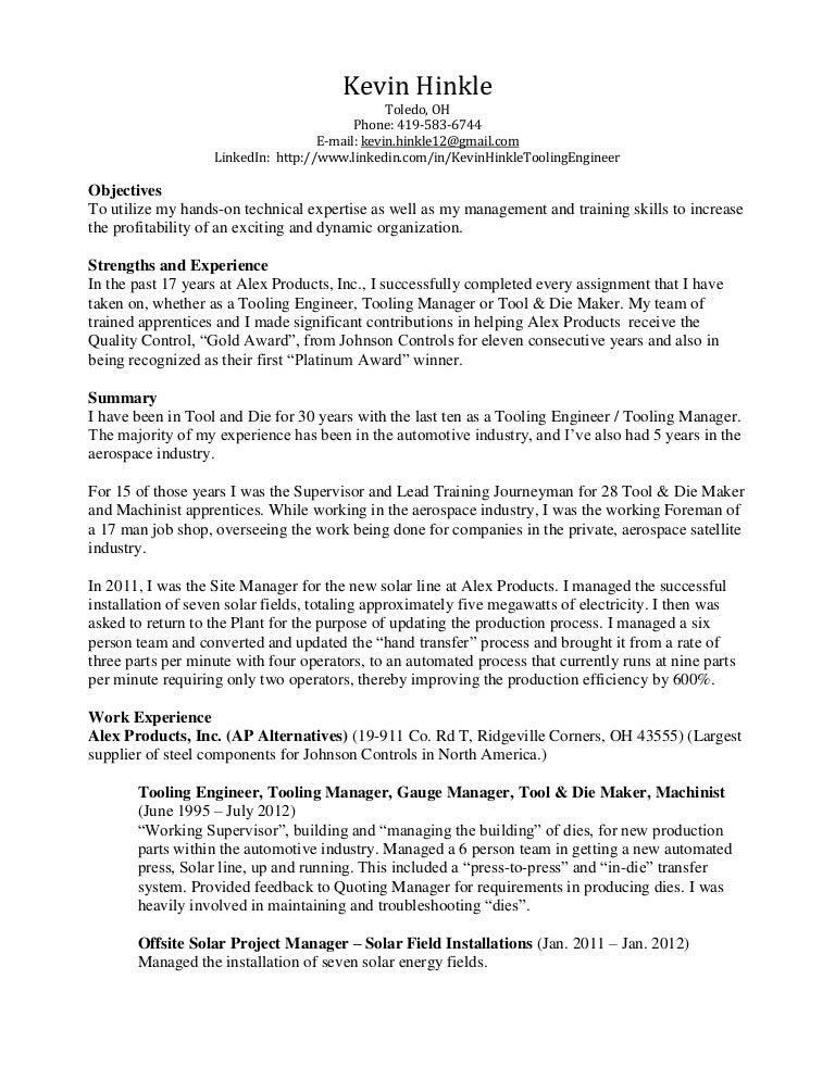 Kevin Hinkle Resume