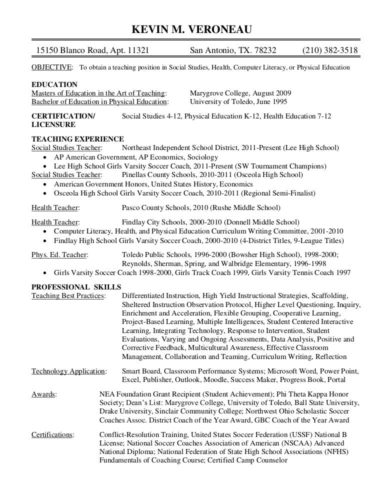 Social Studies Teacher Resume Forteforic