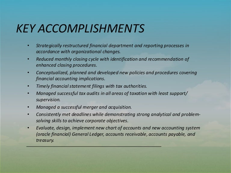 examples of accomplishments