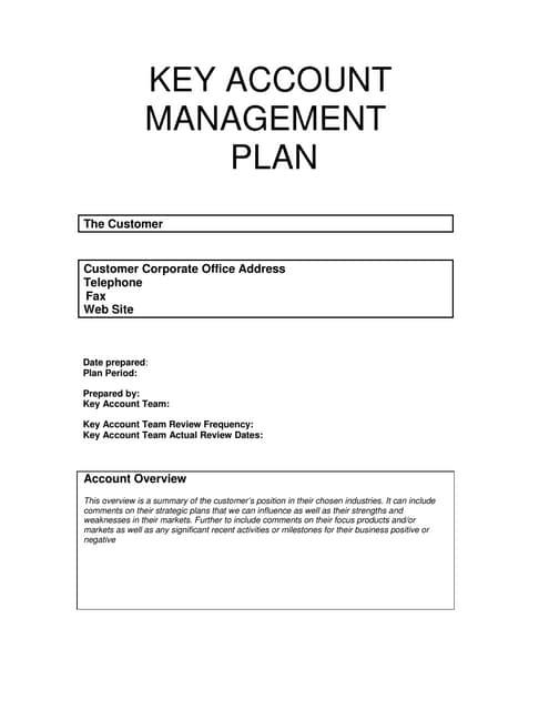 Key Account Management PPT Slide Template