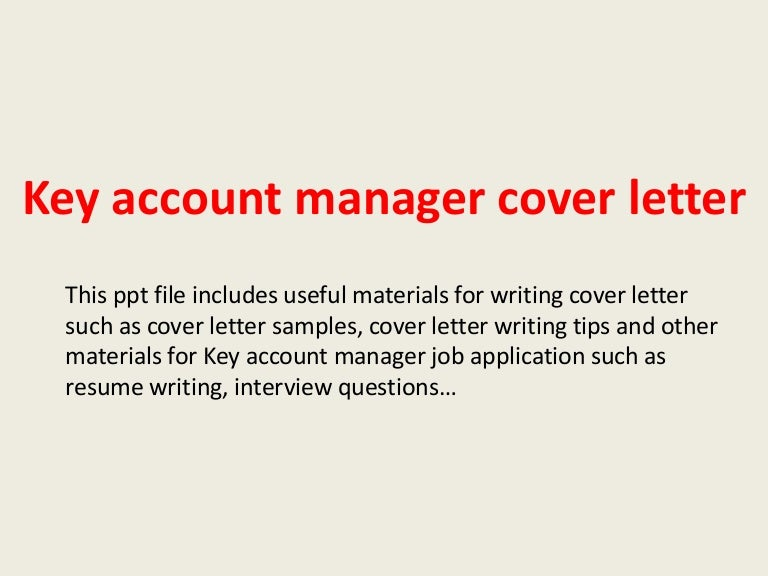 Top   key account manager cover letter samples Resume Resource         Useful materials for key account manager