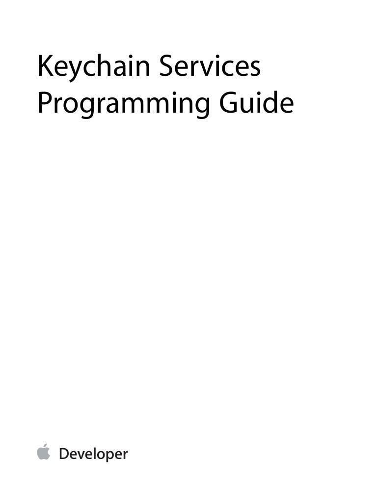 generic keychain objective c