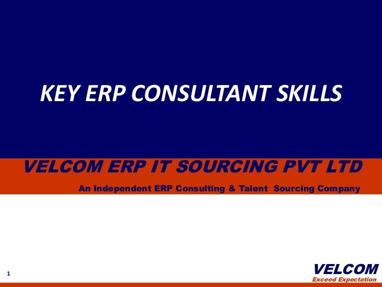 key erp consultant skills