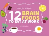 Food For Thought: 12 Brain Foods To Boost Your Productivity