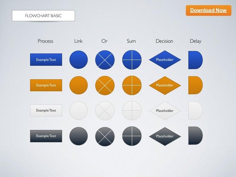 keynote template flowchart basic rh slideshare net Process Flow Diagram Template process flow chart keynote