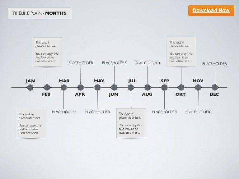 Keynote Template] Minimal Timeline - Months