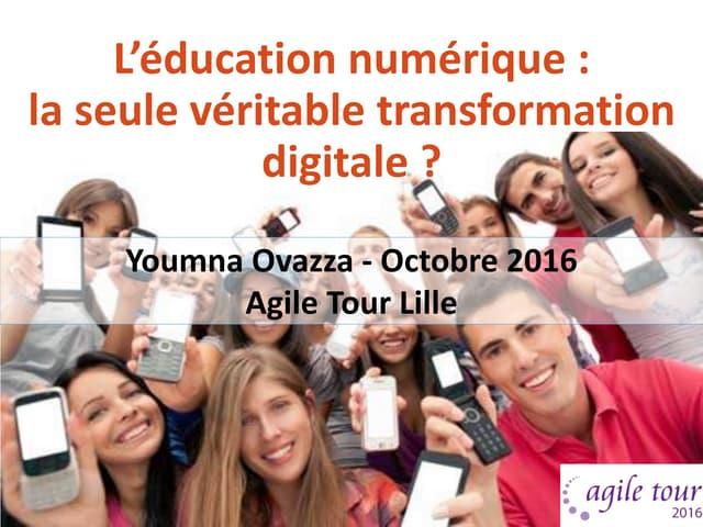 L'éducation numérique, la seule véritable transformation digitale ?