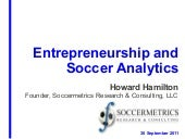 Entrepreneurship and Soccer Analytics