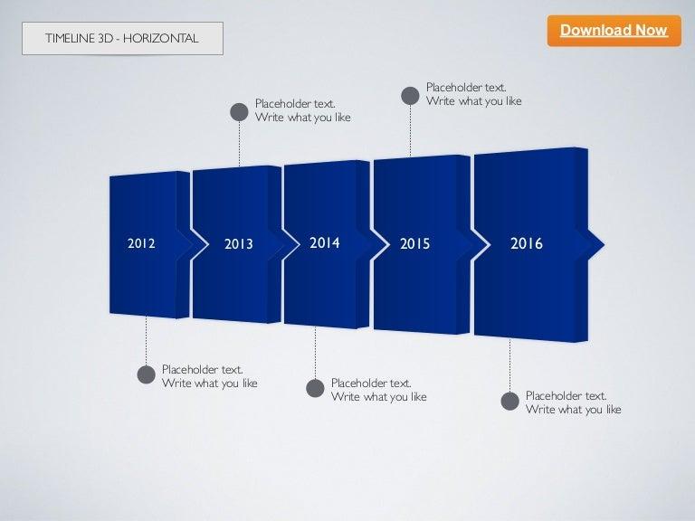 Keynote Template Timeline D Horizontal