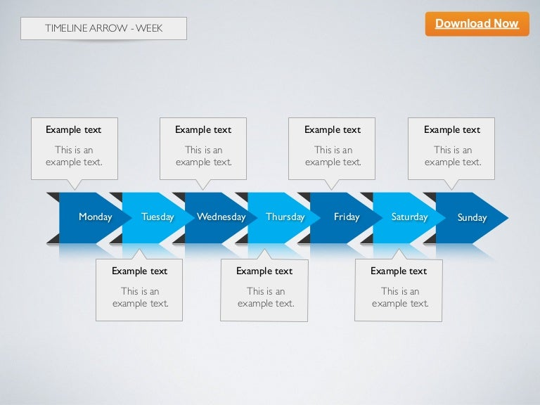Keynote Template Timeline Arrow D  Week
