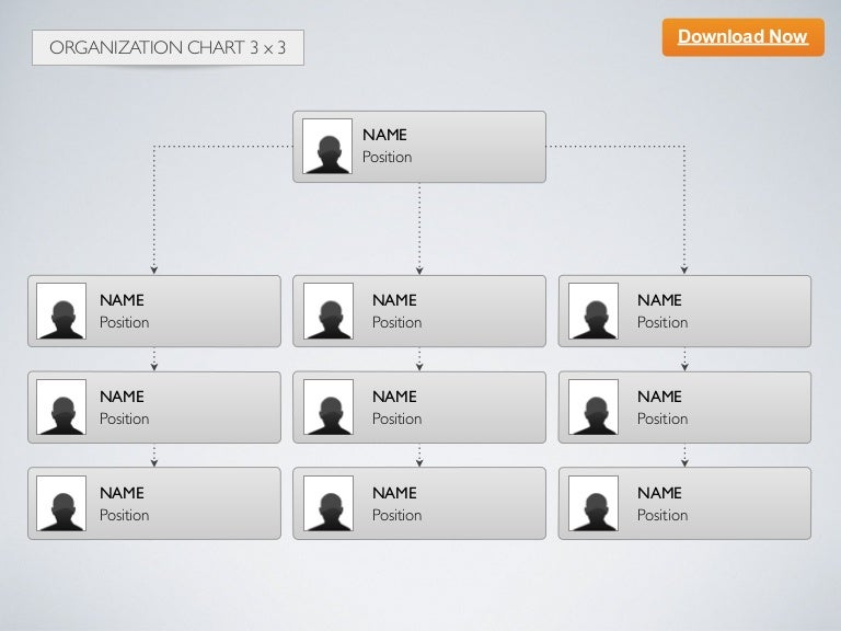 keynote template organization chart 3x3. Black Bedroom Furniture Sets. Home Design Ideas