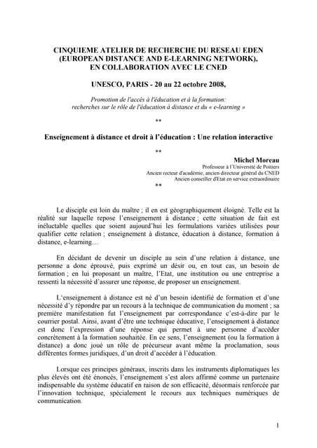 Cinquieme Atelier Recherche Du Reseau EDEN