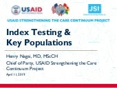 Index Testing & Key Populations in Ghana