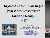Keyword Research   Word Camp 2014 - updated