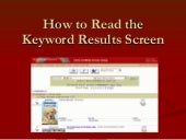 How to Read Keyword Search Results