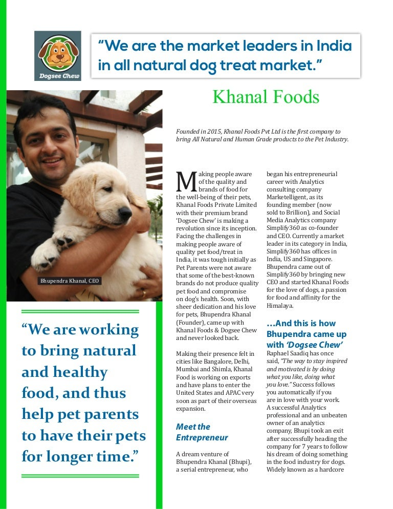 Dogsee Chew, India's Leader in Natural Dog Treat