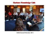 Knowledge Cafe David Gurteen at KHDA, Dubai, 2013