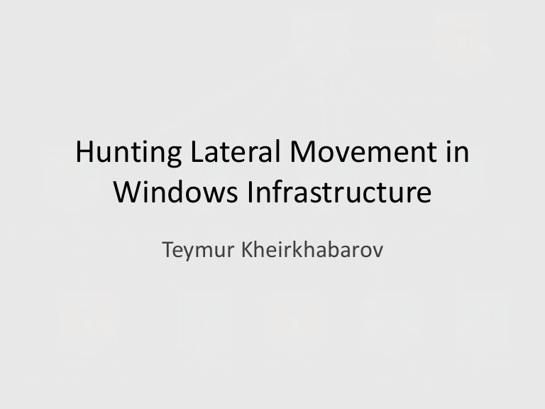 Hunting Lateral Movement in Windows Infrastructure