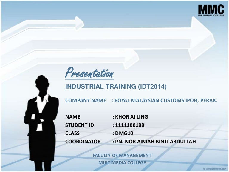 semester 7 - industrial training (final presentation), Powerpoint templates