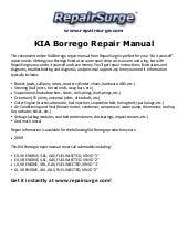 kia borrego repair manual 2009  slideshare