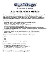 kia forte 2012 workshop repair service manual pdf