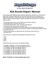 kia rondo 2007 2012 oem service repair manual rh slideshare net 2009 Kia Rondo kia rondo repair manual pdf