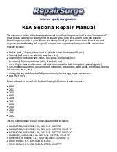 kia sedona 2002 2005 factory service repair manual rh slideshare net 2002 Kia Sedona Radiator Diagram kia sedona 2002 repair manual free download