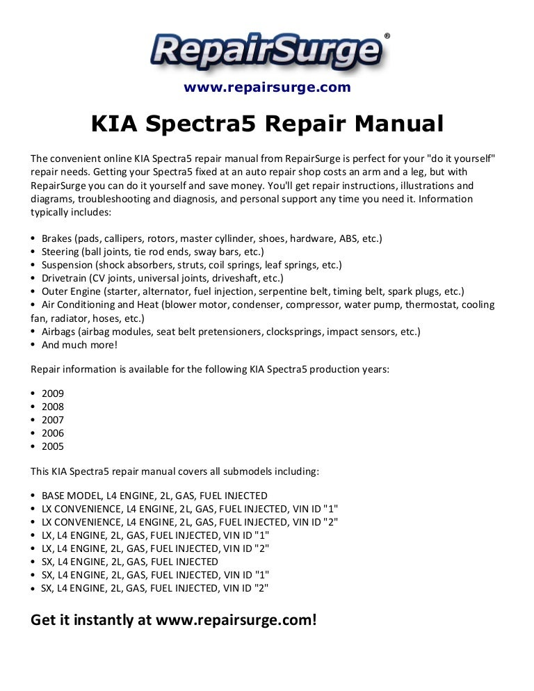 kiaspectra5repairmanual2005 2009 141110131730 conversion gate02 thumbnail 4?cb=1415625474 kia spectra5 repair manual 2005 2009 2005 Kia Spectra at bayanpartner.co