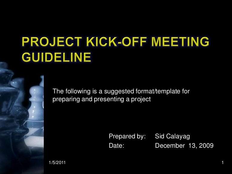 Kick Off Meeting Presentation