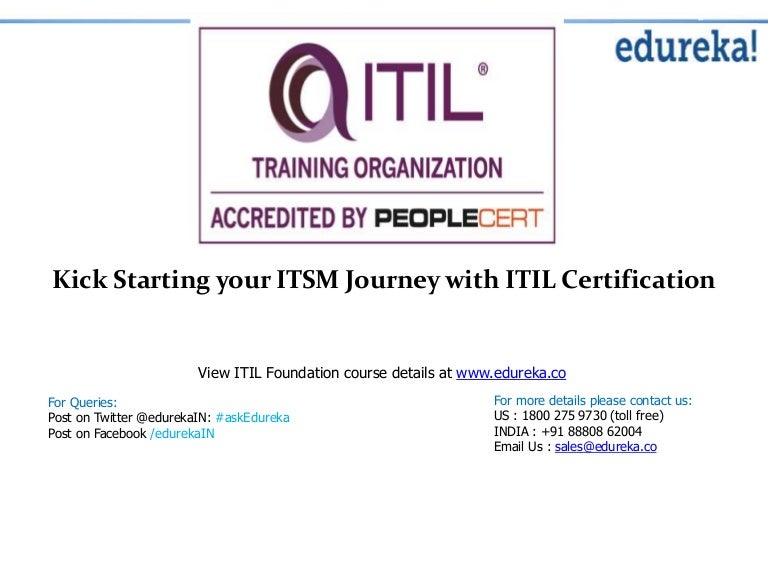 Kick Starting Your Itsm Journey With Itil Certification