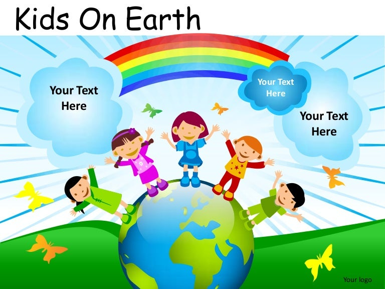 kids on earth powerpoint presentation templates
