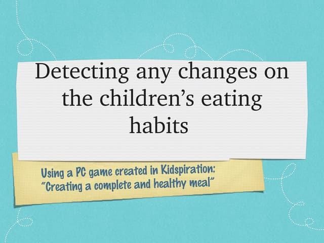 Kidsperation detecting results