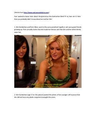 Kim Kardashian Top 11 Facts