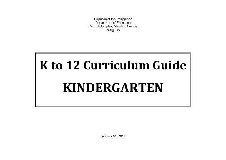 kindergarten curriculum guide rh slideshare net national kindergarten curriculum guide part 1 national kindergarten curriculum guide week 21-40