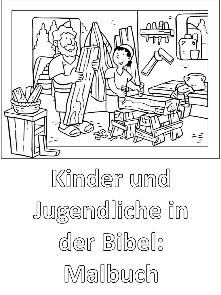 Kinder Und Jugendliche In Der Bibel Malbuch