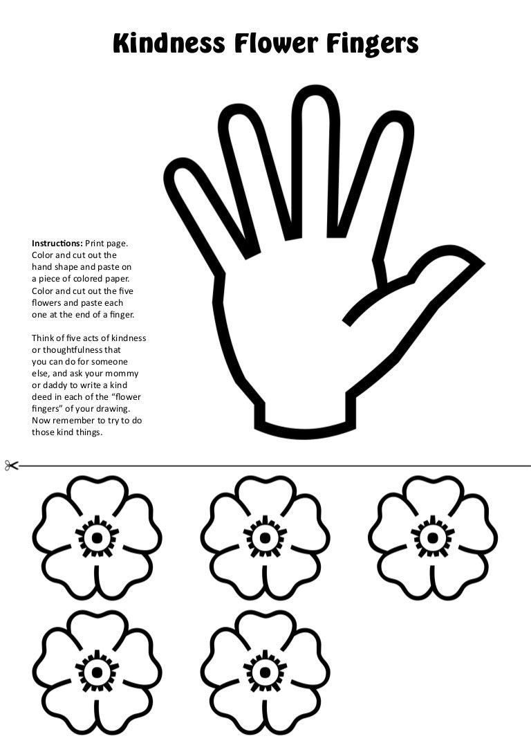 Kindness Flower Fingers