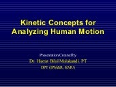 Kinetic concepts for analyzing human motion
